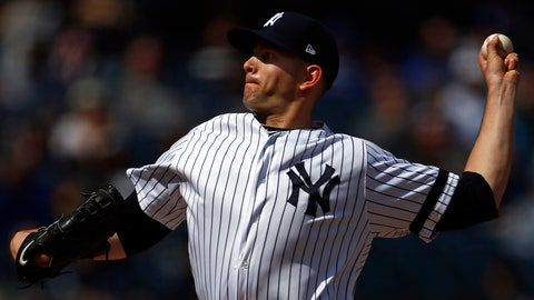 <p>               New York Yankees pitcher James Paxton delivers a pitch during the seventh inning of a baseball game against the Kansas City Royals on Sunday, April 21, 2019, in New York. (AP Photo/Adam Hunger)             </p>