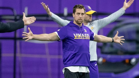<p>               Minnesota Vikings wide receiver Adam Thielen stretches before practice at the Twin Cities Orthopedic Center in Eagan, Minn., Tuesday, April 16, 2019. Elizabeth Flores/Star Tribune via AP)             </p>