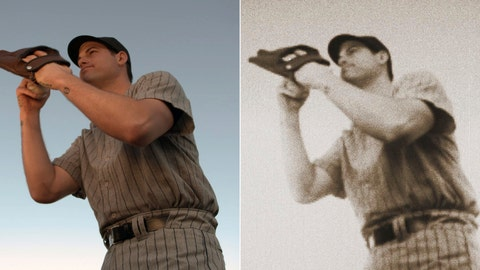 "<p>               At left is a scene from a commercial showing New York Yankees baseball player Adam Ottavino preparing to pitch to Babe Ruth. At right is the same photo, edited with Adobe After Effects software. Back in December, Ottavino told the MLB.com's Statcast podcast: ""I would strike Babe Ruth out every time."" A month later, the native New Yorker signed with a $27 million, three-year contract with the Yankees, who view Ruth as a deity. Within days, the team approached Ottavino about making a commercial in which he pitches to Ruth with catastrophic consequences. (Yankees On Demand via AP)             </p>"