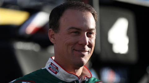 BRISTOL, TN - APRIL 06:  Kevin Harvick, driver of the #4 Hunt Brothers Pizza Ford, stands in the garage area  during practice for the Monster Energy NASCAR Cup Series Food City 500 at Bristol Motor Speedway on April 6, 2019 in Bristol, Tennessee.  (Photo by Chris Graythen/Getty Images)