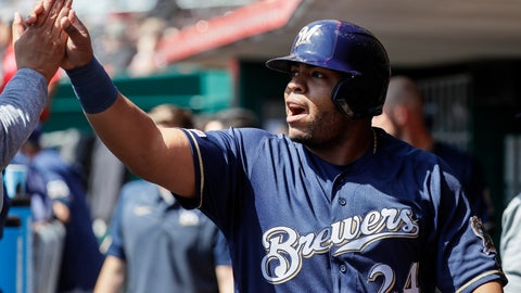 Jesus Aguilar, Brewers first baseman (↓ DOWN)