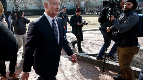 <p>               FILE - In this April 3, 2019 file photo, TobyMacFarlane departs federal court in Boston after facing charges in a nationwide college admissions bribery scandal. Authorities said Tuesday, April 23, that MacFarlane, a former senior executive at a title insurance company, will plead guilty to racketeering conspiracy and cooperate with federal authorities in the case. (AP Photos/Michael Dwyer, File)             </p>