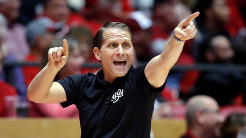 <p>               FILE - In this Jan. 5, 2019, file photo, Nevada coach Eric Musselman gives instructions to his players from the sideline during the second half of the team's NCAA college basketball game against New Mexico in Albuquerque, N.M. Arkansas has hired Musselman as its next men's basketball coach. Razorbacks athletic director Hunter Yurachek announced Musselman's hiring Sunday, April 7, on Twitter. (AP Photo/Andres Leighton, File)             </p>