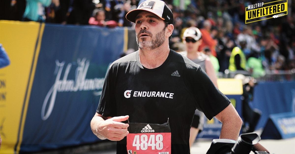 Michael Waltrip is really proud of Jimmie Johnson running the Boston Marathon