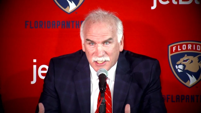 WATCH: Joel Quenneville introduced as new Florida Panthers coach