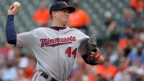 <p>               Minnesota Twins starting pitcher Kyle Gibson delivers a pitch in the first inning of a baseball game against the Baltimore Orioles, Sunday, April 21, 2019, in Baltimore. (AP Photo/Will Newton)             </p>