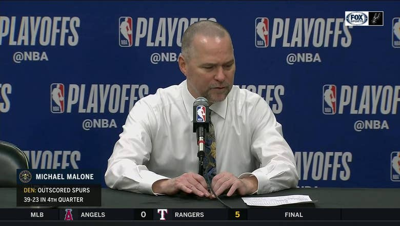 Michael Malone on Nuggets defeating the Spurs in Game 2