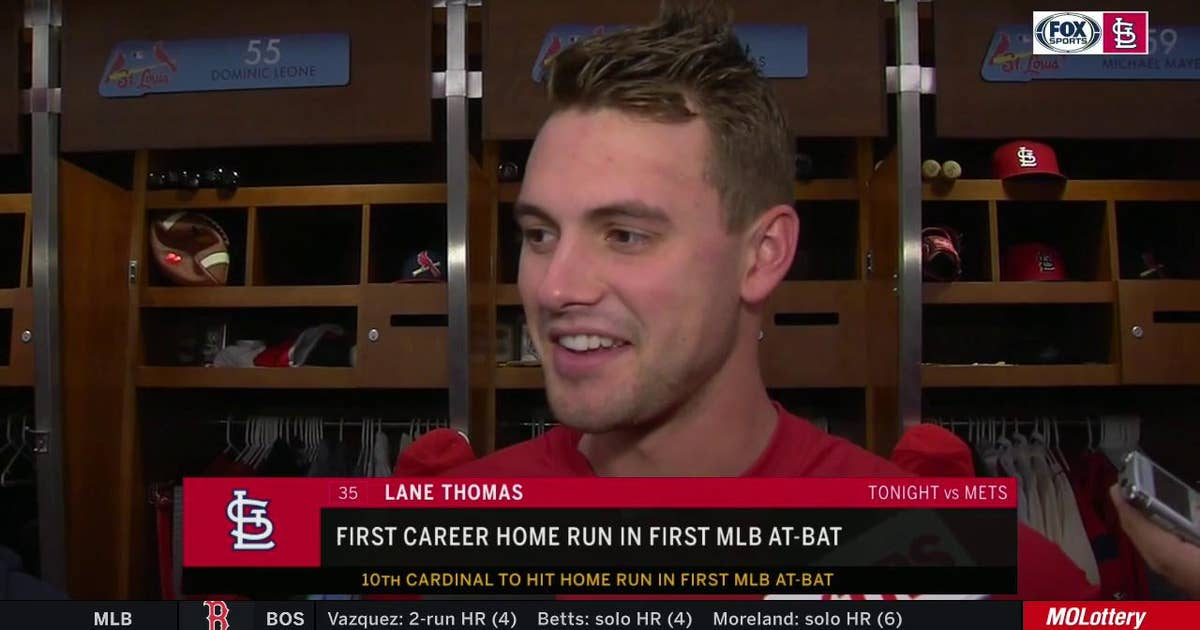 Lane Thomas on curtain call after first homer: 'That was the coolest part'
