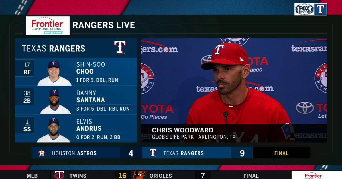 Chris Woodward on the starting pitching of Sampson in Win over Astros