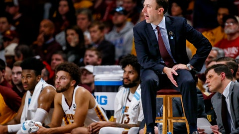 <p>               FILE - In this Feb. 16, 2019, file photo, Minnesota coach Rick Pitino watches the team play Indiana in an NCAA college basketball game in Minneapolis. Pitino has agreed to a two-year contract extension, coming off his first NCAA Tournament win in six seasons with the Gophers. The university announced the deal, subject to approval by the board of regents, on Sunday, April 7. Pitino will now be under contract until 2024. (AP Photo/Bruce Kluckhohn, File)             </p>