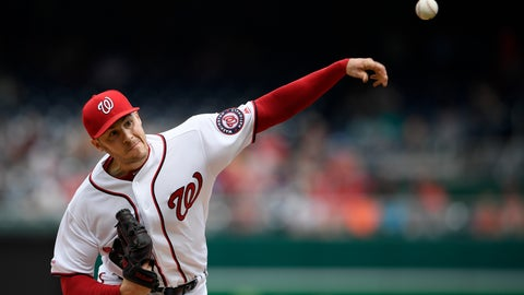 <p>               Washington Nationals starting pitcher Patrick Corbin delivers a pitch during the fifth inning of a baseball game against the San Francisco Giants, Thursday, April 18, 2019, in Washington. (AP Photo/Nick Wass)             </p>