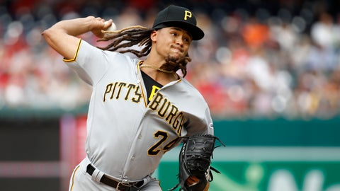 <p>               Pittsburgh Pirates starter Chris Archer throws to the Washington Nationals in the third inning of a baseball game, Saturday, April 13, 2019, in Washington. (AP Photo/Patrick Semansky)             </p>