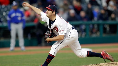 <p>               Cleveland Indians starting pitcher Trevor Bauer delivers in the sixth inning of a baseball game against the Toronto Blue Jays, Thursday, April 4, 2019, in Cleveland. (AP Photo/Tony Dejak)             </p>