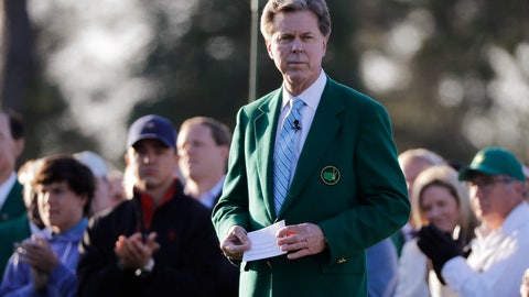 """<p>               FILE - In this April 5, 2018, file photo, Augusta National Golf Club Chairman Fred Ridley watches the honorary first tee shots before the first round at the Masters golf tournament in Augusta, Ga. For the first time the Masters plans to have nearly all of the 20,000-plus shots available to view on its website just a few minutes after they happen. Ridley said the option is the first of its kind in golf. """"It's been two or three years in developing,"""" Ridley said Wednesday, April 10. """"We had it in a beta test mode previously, but now I feel like that we can actually execute on this.  So we just thought it was something that people wanted and which supplemented our other forms of providing coverage of the tournament."""" (AP Photo/David J. Phillip, File)             </p>"""