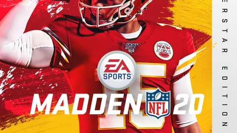 <p>               This image provided by EA Sports shows the cover of the Madden 20 video game, featuring Kansas City Chiefs quarterback Patrick Mahomes, which will be released in August. (Photo courtesy of EA Sports via AP)             </p>