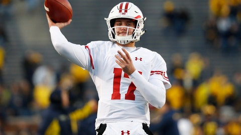 <p>               FILE - In this Oct. 13, 2018, file photo, Wisconsin quarterback Jack Coan throws before an NCAA college football game against Michigan, in Ann Arbor, Mich. Four scholarship quarterbacks are competing for the starter's job at Wisconsin. Coan is the only quarterback with significant experience following the departure of three-year starter Alex Hornibrook, who went to Florida State as a graduate transfer. (AP Photo/Paul Sancya, File)             </p>
