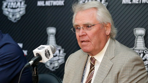 <p>               FILE - In this June 3, 2014, file photo, Glen Sather, at the time the president and general manager of the New York Rangers, speaks during a news conference in Los Angeles about the NHL hockey Stanley Cup finals. Sather is stepping down as Rangers president and transitioning to a new role as senior adviser to owner James Dolan. Sather's move comes after 19 years with the Rangers in which he served the first 15 as New York's president and general manager. He ceded general manager duties to longtime assistant Jeff Gorton before the 2015-16 season. (AP Photo/Jae C. Hong, File)             </p>