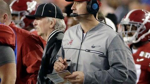 <p>               FILE - In this Jan. 9, 2017, file photo, Alabama offensive coordinator Steve Sarkisian is seen on the sidelines during the second half of the NCAA college football playoff championship game against Clemson, in Tampa, Fla. There was plenty of coaching turnover in the Southeastern Conference this offseason. It just didn't involve the guys in charge. (AP Photo/David J. Phillip, File)             </p>