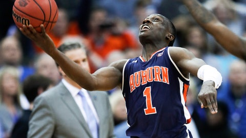 <p>               Auburn's Jared Harper celebrates after Auburn defeated Kentucky in the Midwest Regional final game in the NCAA men's college basketball tournament Sunday, March 31, 2019, in Kansas City, Mo. Auburn won 77-71 in overtime. (AP Photo/Orlin Wagner)             </p>