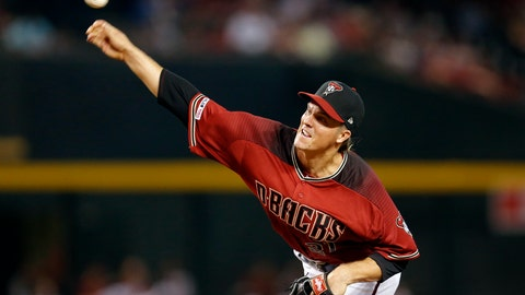 <p>               Arizona Diamondbacks pitcher Zack Greinke throws in the first inning during a baseball game against he San Diego Padres, Sunday, April 14, 2019, in Phoenix. (AP Photo/Rick Scuteri)             </p>