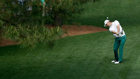 <p>               Justin Rose, of England, hits from the rough on the seventh hole during a practice round for the Masters golf tournament Monday, April 8, 2019, in Augusta, Ga. (AP Photo/Marcio Jose Sanchez)             </p>