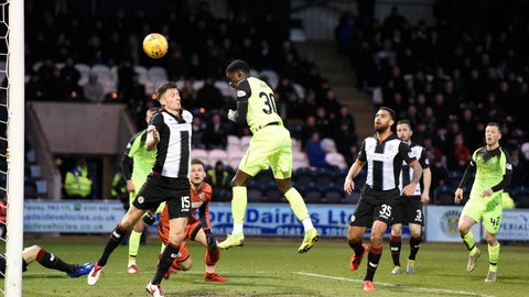 <p>               Celtic's Timothy Weah scores his side's first goal of the game during the Scottish Premier League soccer match against St Mirren Wednesday April 3, 2019. American forward Tim Weah scored in his first start in two months, helping Celtic win 2-0 at St. Mirren in the Scottish Premier League. (Ian Rutherford/PA via AP)             </p>