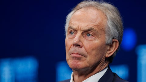 <p>               FILE - In this file photo dated Monday, April 30, 2018, former British Prime Minister Tony Blair listens during a discussion at the Milken Institute Global Conference, in Beverly Hills, Calif. USA. After leading Britain for a decade, believing society was becoming more tolerant, Tony Blair cannot comprehend how the national sport is being blighted by racism. (AP Photo/Jae C. Hong, File)             </p>