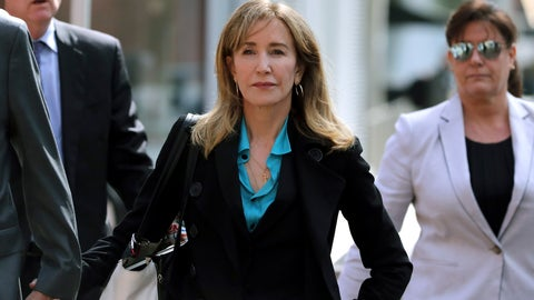 <p>               FILE - This April 3, 2019 file photo shows actress Felicity Huffman arriving at federal court in Boston to face charges in a nationwide college admissions bribery scandal. Huffman is facing a prison sentence after agreeing Monday to plead guilty to one count of conspiracy and fraud for paying a consultant $15,000 disguised as a charitable donation to boost her daughter's SAT score. Prosecutors are seeking four to 10 months of confinement, and experts different on whether the plea, and Huffman's subsequent apology taking full responsibility for her actions, will lead to a career rebound or retreat. (AP Photo/Charles Krupa, File)             </p>