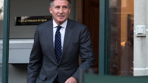 "<p>               FILE - In this Monday, Feb. 18, 2019, file photo, IAAF president Sebastian Coe leaves a hearing in Lausanne, Switzerland. Coe has been cleared of misleading British lawmakers about his knowledge of a Russian doping scandal. The IAAF's ethics board says it closed the investigation because no evidence showed ""any realistic prospect that any disciplinary case could be established."" (Laurent Gillieron/Keystone via AP, File)             </p>"