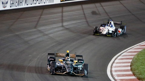 <p>               FILE - In this Aug. 26, 2017, file photo, JR Hilderbrand drives on the track during an IndyCar auto race at Gateway Motorsports Park in Madison, Ill. The track outside St. Louis that hosts IndyCar, NASCAR and NHRA events is getting not only a new name, but a promise to become a proving ground for tech innovations aimed at enhancing the fan experience. Gateway Motorsports Park in Madison, Illinois, will be renamed World Wide Technology Raceway at Gateway. Terms of the naming rights agreement announced Wednesday, April 17, 2019, were not disclosed. (AP Photo/Scott Kane, File)             </p>