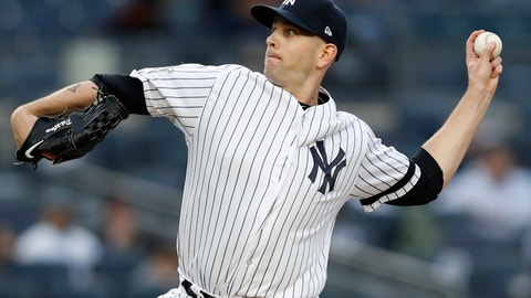 <p>               New York Yankees starting pitcher James Paxton delivers during the first inning of the team's baseball game against the Boston Red Sox, Tuesday, April 16, 2019, in New York. (AP Photo/Kathy Willens)             </p>