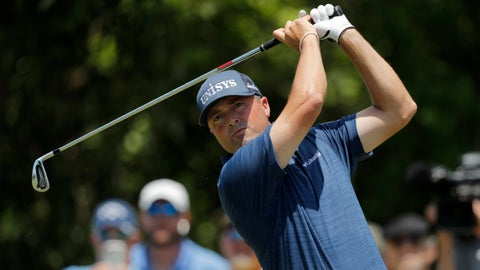 <p>               Ryan Palmer hits off the third tee during the final round of the PGA Zurich Classic golf tournament at TPC Louisiana in Avondale, La., Sunday, April 28, 2019. (AP Photo/Gerald Herbert)             </p>