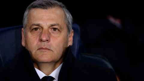 <p>               FILE - In this March 13, 2019 file photo, Lyon coach Bruno Genesio stands on the touchline before the Champions League round of 16, 2nd leg, soccer match between FC Barcelona and Olympique Lyon at the Camp Nou stadium in Barcelona, Spain. Despite a season marred by many ups and downs and the hostility of many fans, the Lyon coach Bruno Genesio had reportedly reached a deal with president Jean-Michel Aulas for a two-year contract extension. (AP Photo/Manu Fernandez, File)             </p>