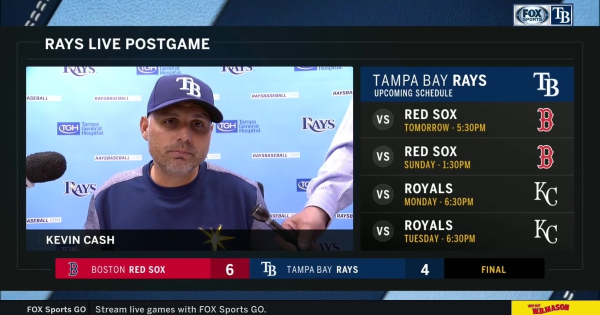 Kevin Cash confident Rays will bounce back after series opener loss to Red Sox