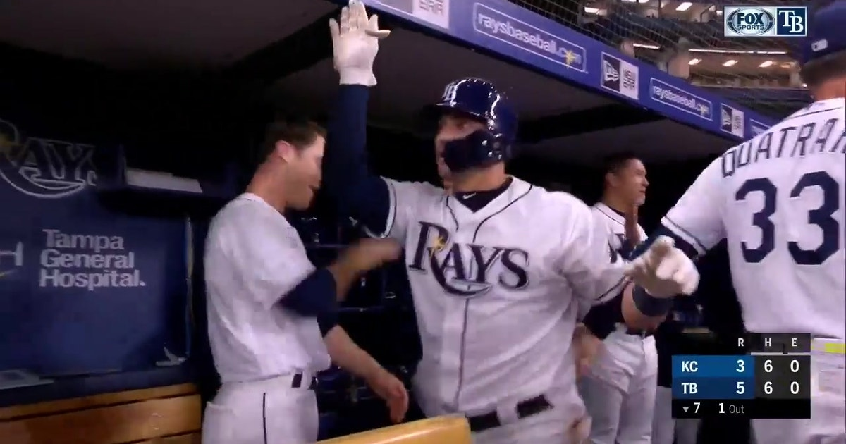 WATCH: New dad Mike Zunino hits his 1st home run for Rays