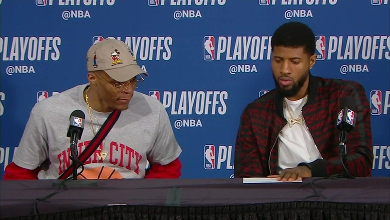 Russell Westbrook, Paul George on Tough Game 5 loss vs. Portland