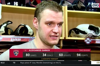 Aleksander Barkov talks about what it means to tie Panthers' single-season point record
