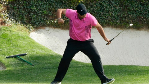 <p>               FILE - In this April 8, 2018, file photo, Patrick Reed reacts to his birdie on the 12th hole during the fourth round at the Masters golf tournament in Augusta, Ga. Reed will try to become the first back-to-back Masters champion since Tiger Woods in 2002. (AP Photo/David J. Phillip, File)             </p>