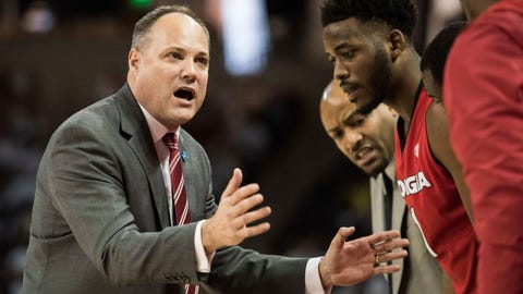 <p>               FILE - In this Saturday, Feb. 4, 2017 file photo, Georgia head coach Mark Fox communicates with players during the first half of an NCAA college basketball game against South Carolina in Columbia, S.C. California has hired Mark Fox as its new men's basketball coach. A person familiar with the hiring said on Friday, March, 29, 2019 that Fox got the job five days after Wyking Jones was fired. The person spoke on condition of anonymity because the school had not made a formal announcement. Stadium first reported that Fox would get the job. (AP Photo/Sean Rayford, File)             </p>