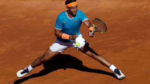 <p>               Rafael Nadal of Spain plays a shot against Jan-Lennard Struff of Germany during a quarterfinal match at the Barcelona Open Tennis Tournament in Barcelona, Spain, Friday, April 26, 2019. (AP Photo/Manu Fernandez)             </p>