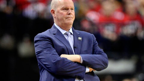 <p>               Orlando Magic head coach Steve Clifford watches as his team plays the Toronto Raptors during the second half in Game 1 of a first-round NBA basketball playoff series in Toronto, Saturday, April 13, 2019. (Frank Gunn/The Canadian Press via AP)             </p>