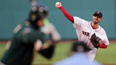 <p>               Boston Red Sox starting pitcher Rick Porcello delivers during the first inning of a baseball game against the Oakland Athletics at Fenway Park, Tuesday, April 30, 2019, in Boston. (AP Photo/Charles Krupa)             </p>