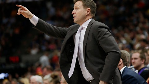 <p>               Washington Wizards head coach Scott Brooks directs his team during the first half of an NBA basketball game against the Utah Jazz, Friday, March 29, 2019, in Salt Lake City. (AP Photo/Rick Bowmer)             </p>