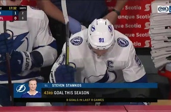 WATCH: Steven Stamkos gets a lucky bounce en route to goal No. 43