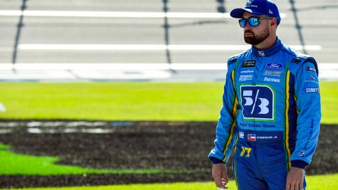 <p>               NASCAR Cup Series driver Ricky Stenhouse Jr. (17) awaits the final qualifying round for a NASCAR Cup Series auto race at Talladega Superspeedway, Saturday, April 27, 2019, in Talladega, Ala. (AP Photo/Julie Bennett)             </p>