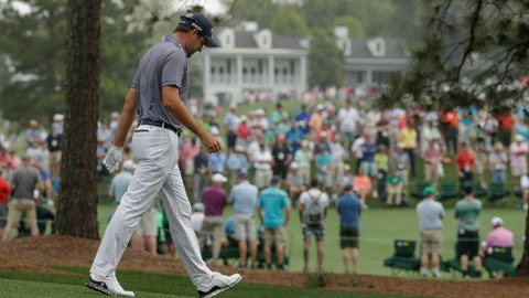<p>               Corey Conners walks up the seventh hole during the first round for the Masters golf tournament Thursday, April 11, 2019, in Augusta, Ga. (AP Photo/Charlie Riedel)             </p>
