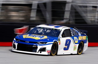 The Latest: Early accident aids Harvick during penalty