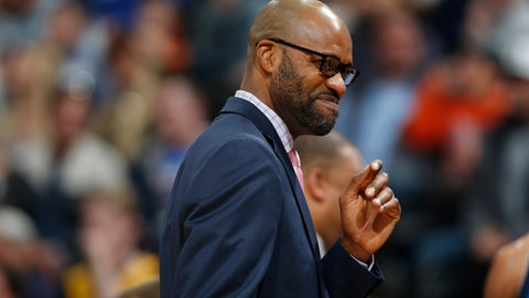<p>               FILE - In this March 28, 2016, file photo, Dallas Mavericks assistant coach Jamahl Mosley smiles in the first half of an NBA basketball game, in Denver. A person familiar with the meetings says the Cavaliers will interview Dallas assistant Jamahl Mosley and Miami's Juwan Howard for their coaching job. The interviews scheduled for this week are the only ones finalized so far, said the person who spoke Monday, April 15, 2019, on condition of anonymity because the team is not publicly commenting during their search for Cleveland's fifth coach since 2013.(AP Photo/David Zalubowski, File)             </p>