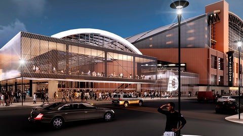 <p>               This rendering provided by the Indiana Pacers, shows renovations and expansion of the NBA basketball team's downtown arena in Indianapolis. The Pacers will stay in Indianapolis for 25 more years in a deal that includes $295 million in public subsidies. The Marion County Capital Improvement Board voted Friday, April 12, 2019, in favor of the agreement. (Indiana Pacers via AP)             </p>