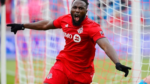 <p>               Toronto FC forward Jozy Altidore (17) celebrates his goal against the Chicago Fire during the first half of an MLS soccer game in Toronto, Saturday, April 6, 2019. (Frank Gunn/The Canadian Press via AP)             </p>
